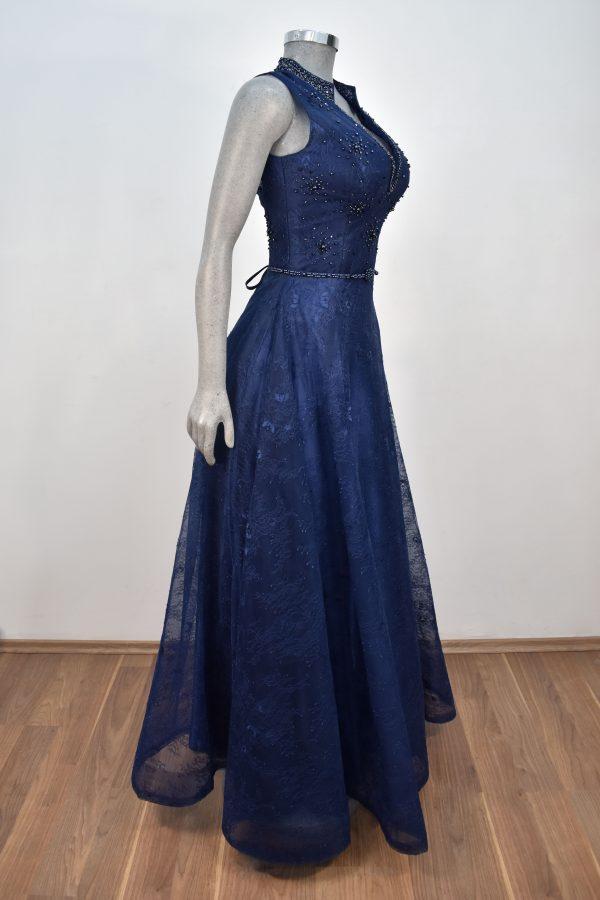 Vestido de fiesta largo Mod. VL6040 color marino