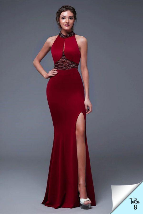 Vestido de fiesta largo Mod. VL4486 color rojo