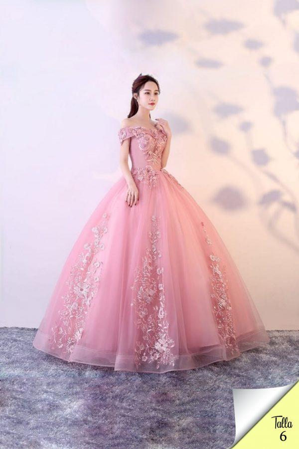 Vestido de XV años Mod. VQ6688 color rosa