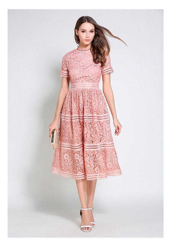 Vestido de fiesta corto Mod. VC2410 color rosa