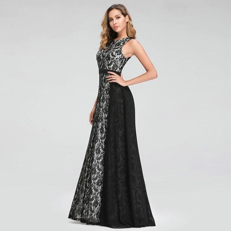 Vestido de fiesta largo Mod. VL2699 color negro blanco