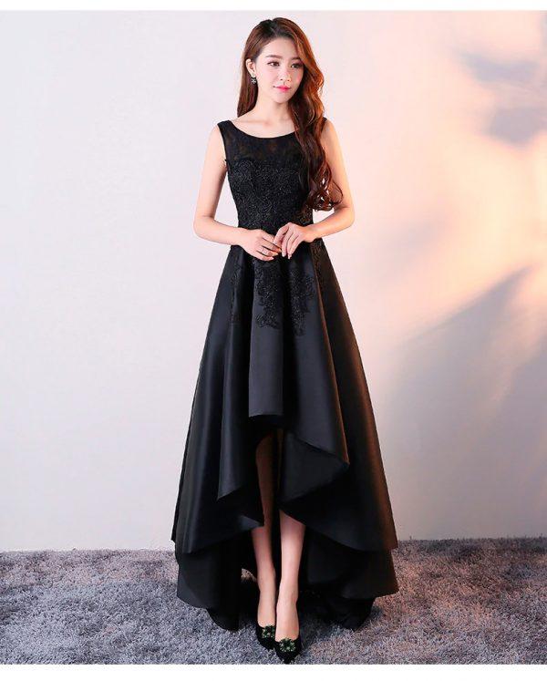Vestido de fiesta corto Mod. VC4311 color negro