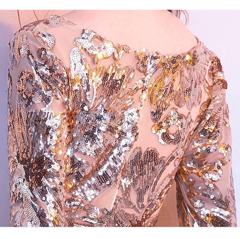 Vestido de fiesta largo Mod. VL5524 color oro