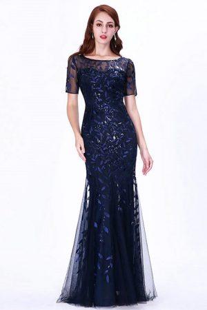 Vestido largo para dama con transparencia mod VL2999 principal