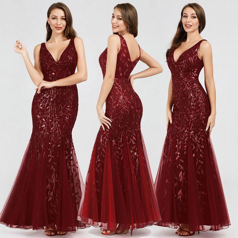 Vestido de fiesta largo Mod. VL2613 color rojo
