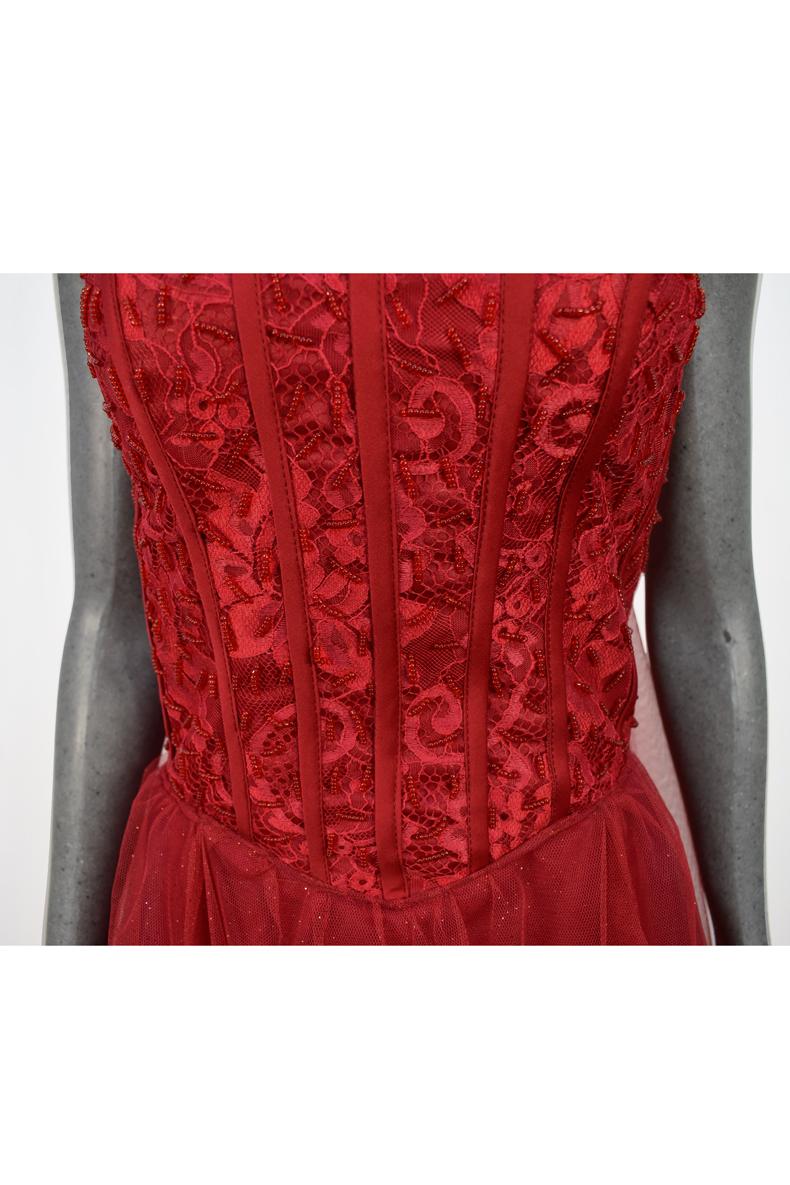 Vestido de fiesta largo Mod. VL4491 color rojo