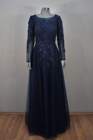 Vestido de fiesta largo Mod. VL7352 color marino