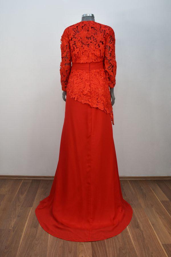 Vestido de fiesta largo Mod. VL9030 color rojo