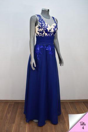 Vestido de fiesta largo Mod. VL3871 color azul