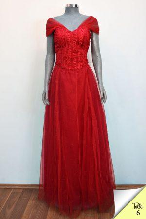 Renta de vestido de fiesta Largo Mod. VL12670 color rojo