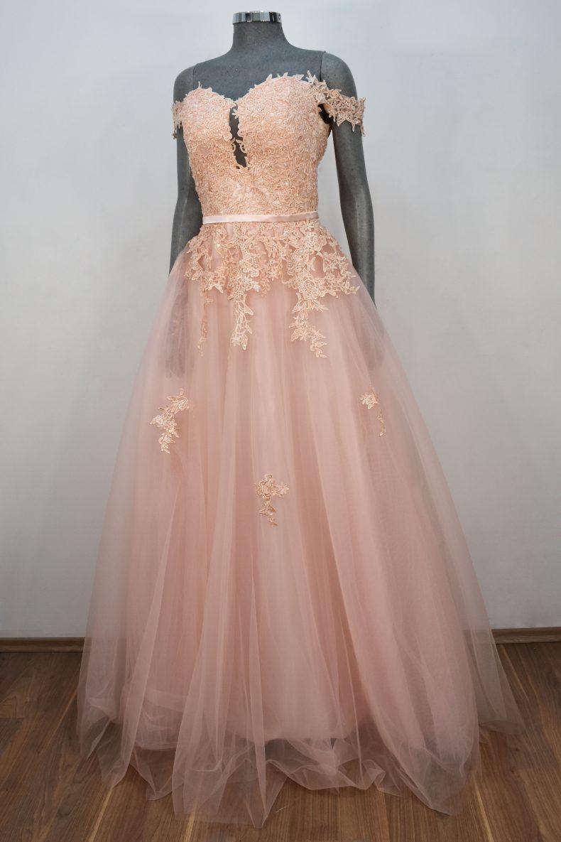 Vestido de fiesta largo Mod. VL10058 color rosa