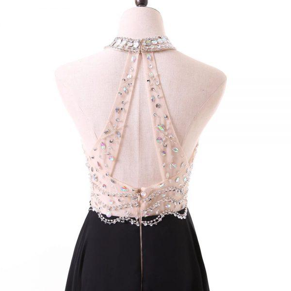 Vestido de fiesta largo Mod. VL7664 color negro