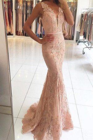 Vestido de fiesta largo Mod. VL6098 color rosa