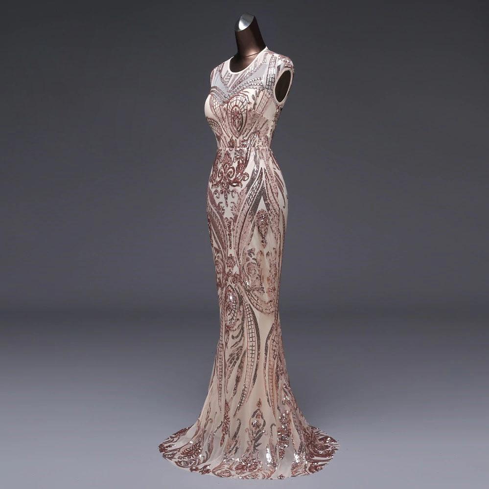 Vestido de fiesta largo Mod. VL4968 color oro