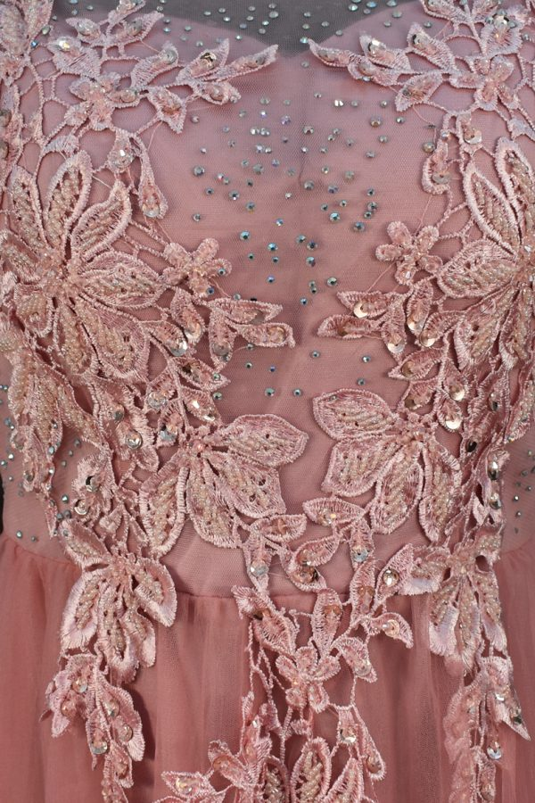 Vestido de fiesta largo Mod. VL1194 color rosa