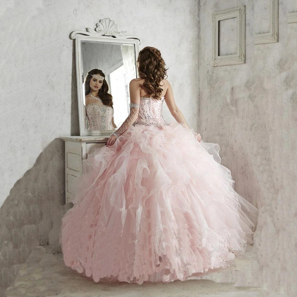 Vestido de XV años Mod. VQ14320 color rosa