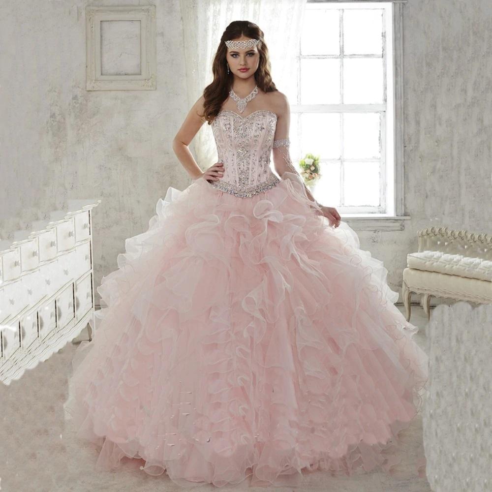 Vestido de XV años color rosa