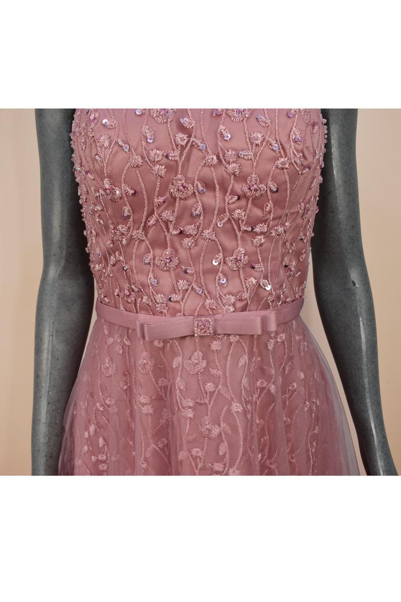 Renta de vestido de fiesta Largo Mod. VL1093 color rosa.