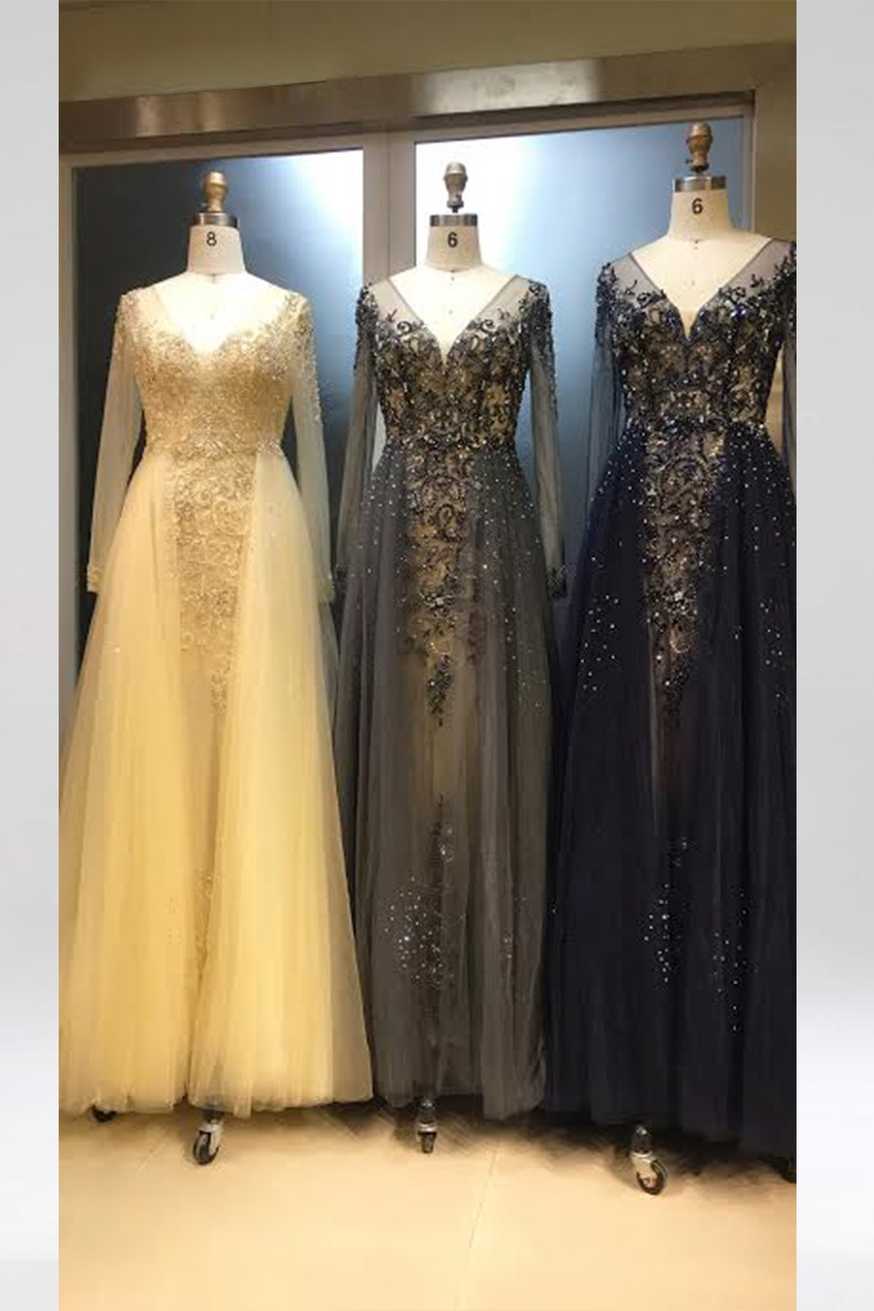 Renta de vestido de fiesta Largo Mod. VL12670 color gris. Entrega a domicilio, servicio de costurera gratis ¡Entra ya!