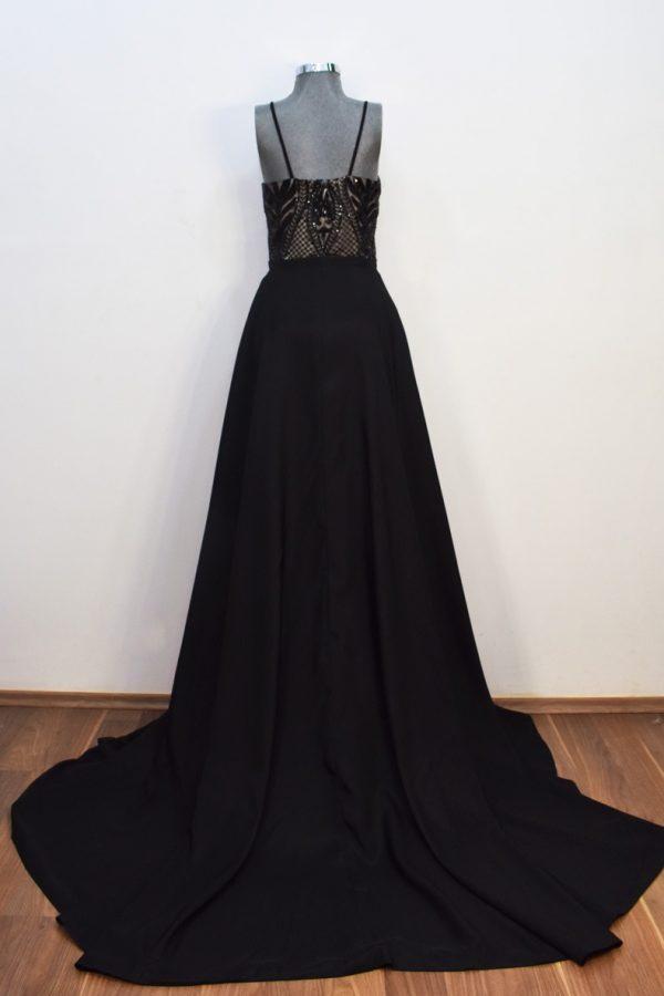 Renta de vestido de fiesta Largo Mod. VL10151 color Negro.
