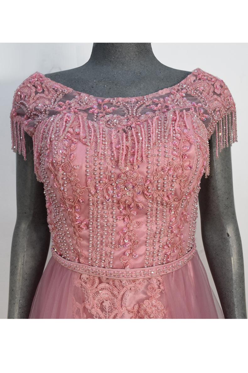 Vestido de fiesta largo Mod. VL4695 color rosa