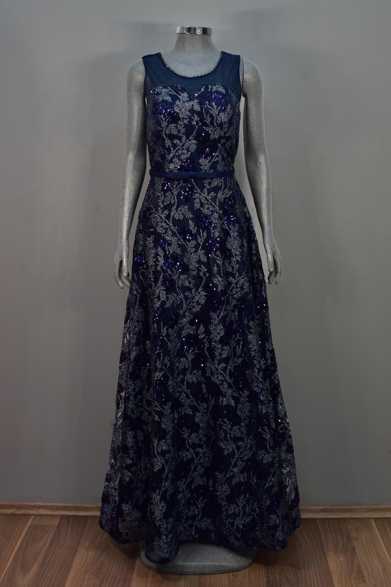 Vestido de fiesta largo Mod. VL1224 color marino