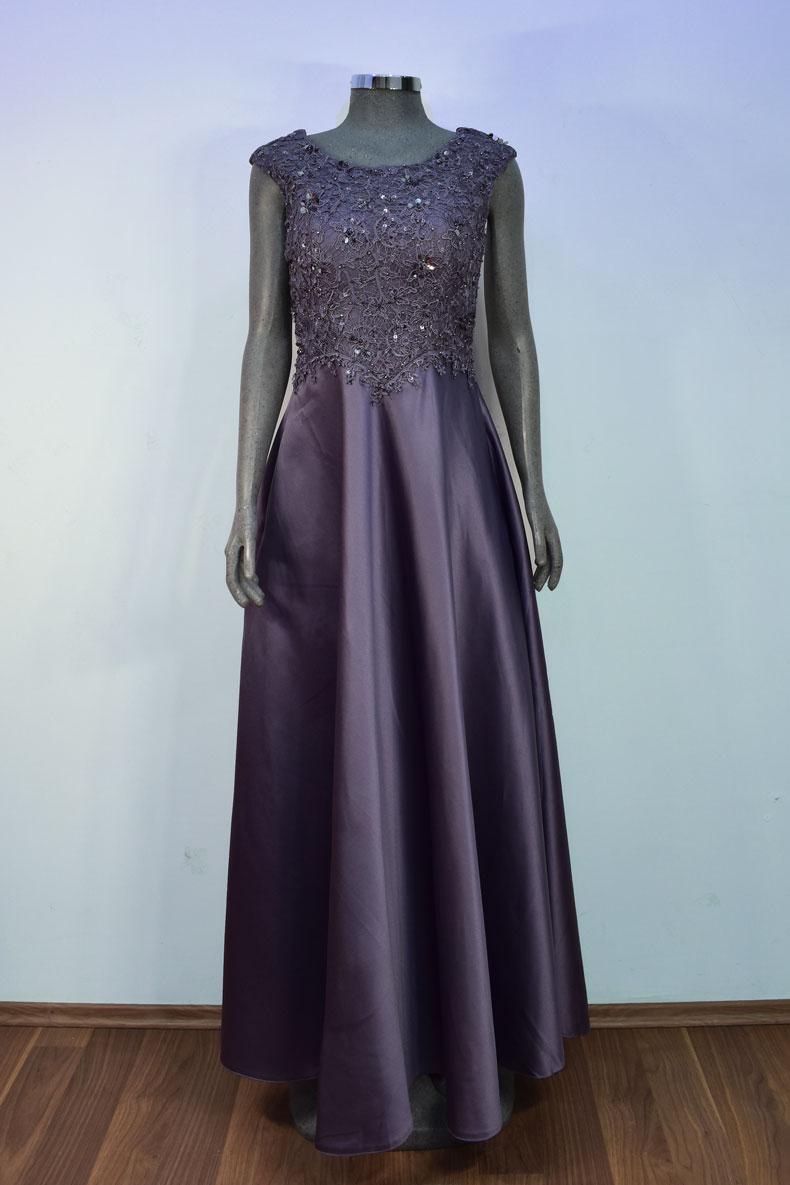 Renta de vestido de fiesta Largo Mod. VL1221 color lila