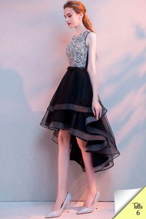 Renta de vestido de fiesta corto Mod. VC4064 color negro