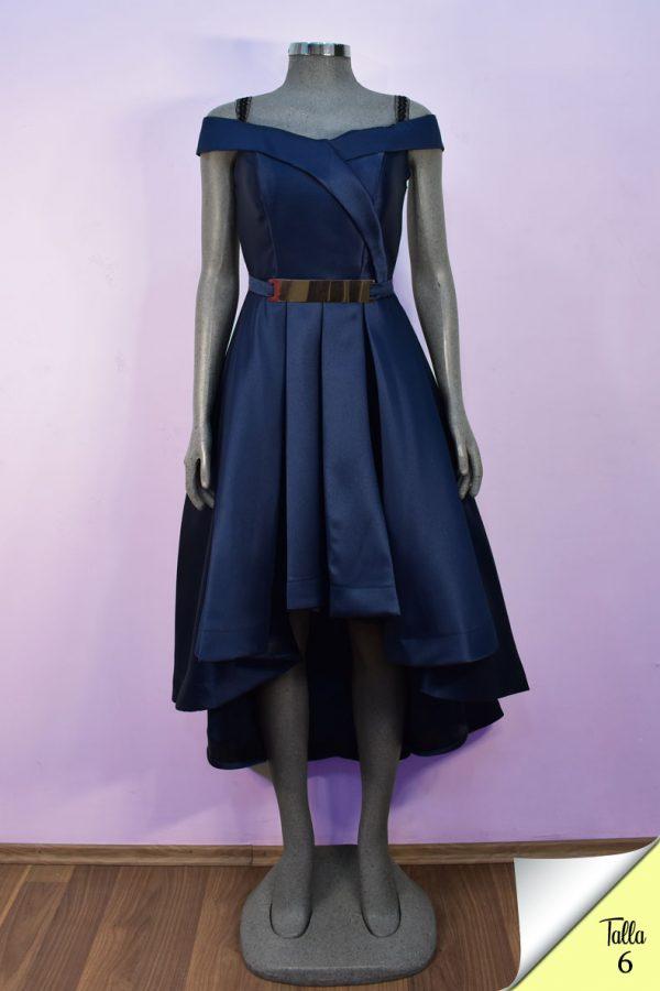 Renta de vestido de fiesta corto Mod. VC8840 color marino