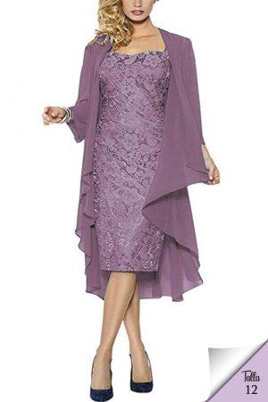Vestido de noche con capa con bordado mod VK6721