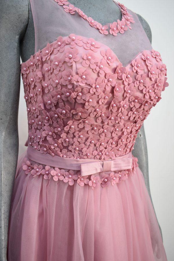 Vestido de fiesta corto Mod. VC004 color rosa