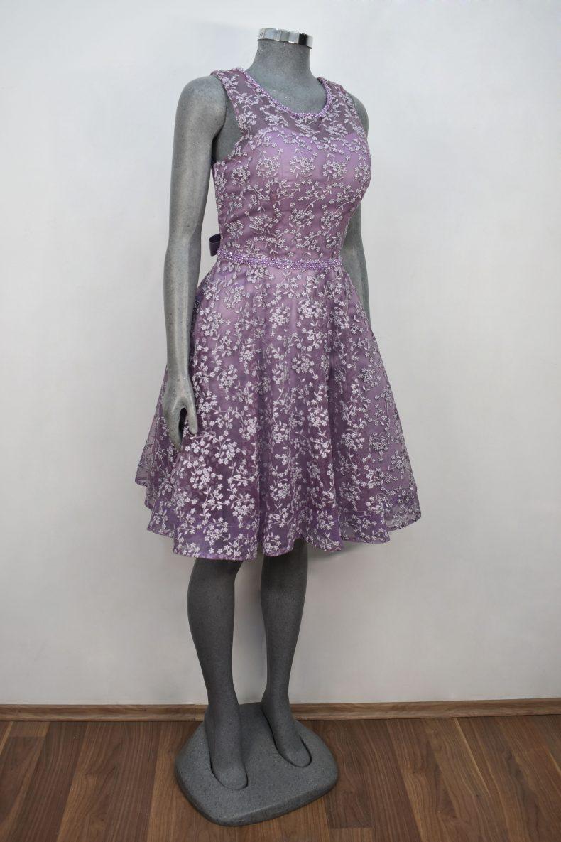 Vestido de fiesta corto Mod. VC005 color lila