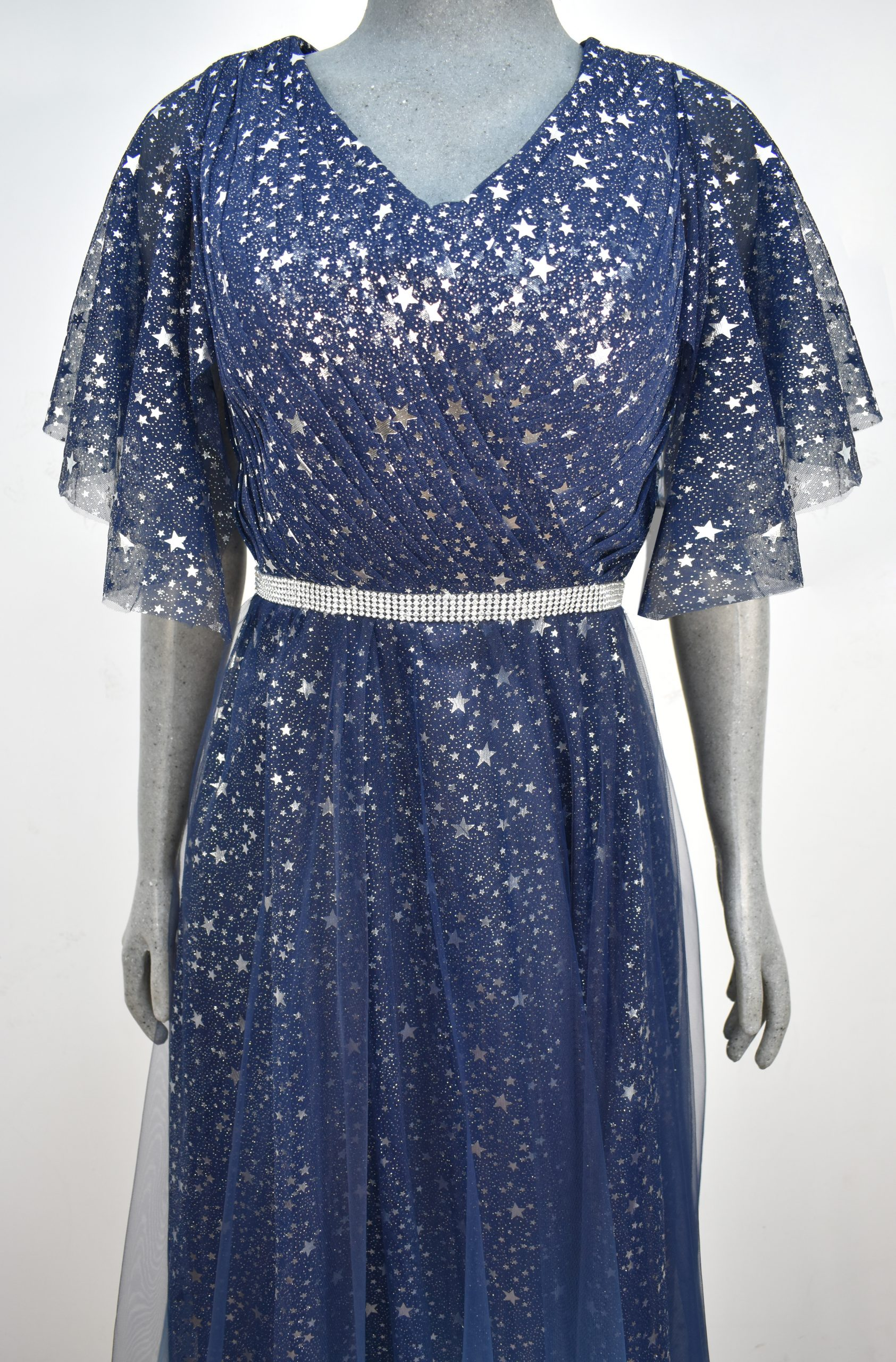 Renta de vestido de fiesta Largo Mod. VL204 color azul