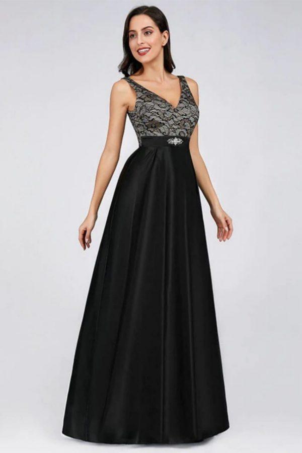 Renta de vestido de fiesta Largo Mod. vl2700 color negro