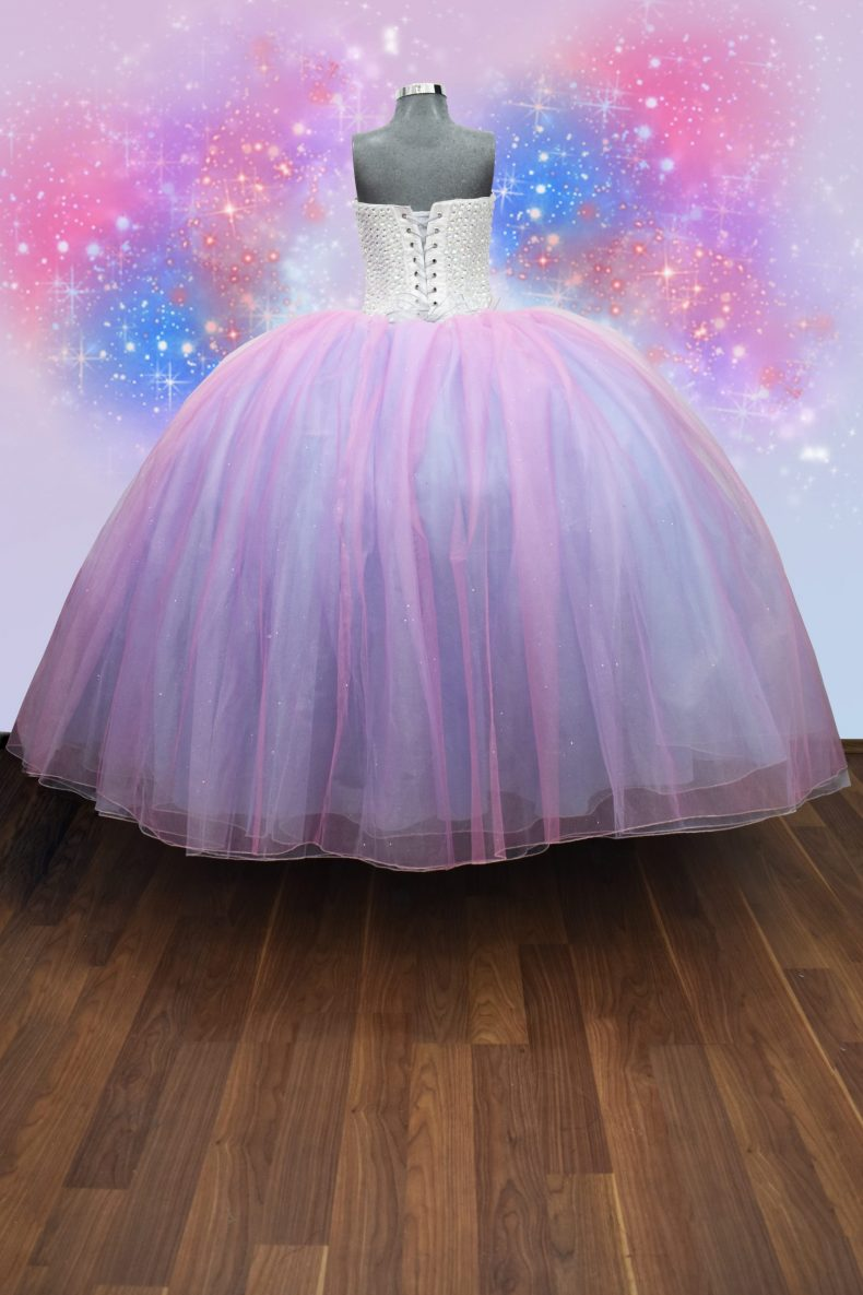 Renta de vestido de XV años Largo Mod. Vestido Mod. VQ1501 colores unicornio
