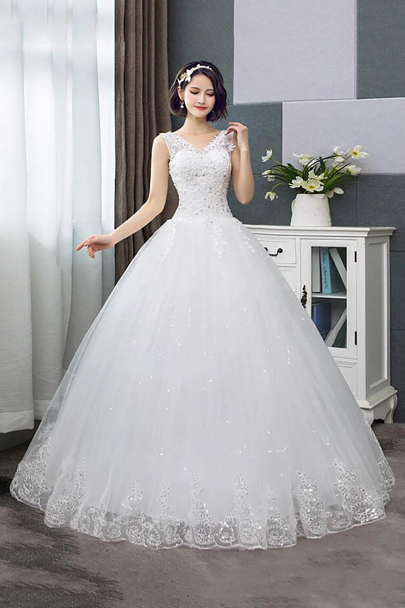 Vestido de Novia largo forma corte princesa