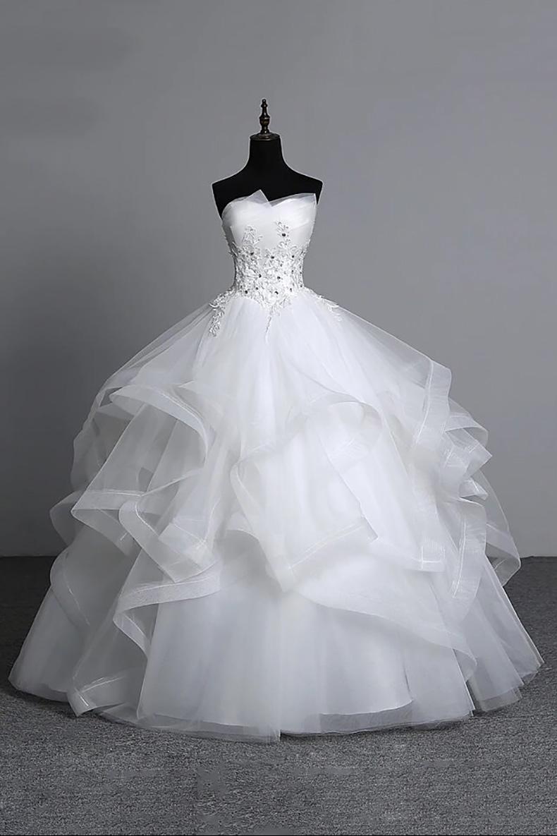 Vestido de Novia largo corte princesa