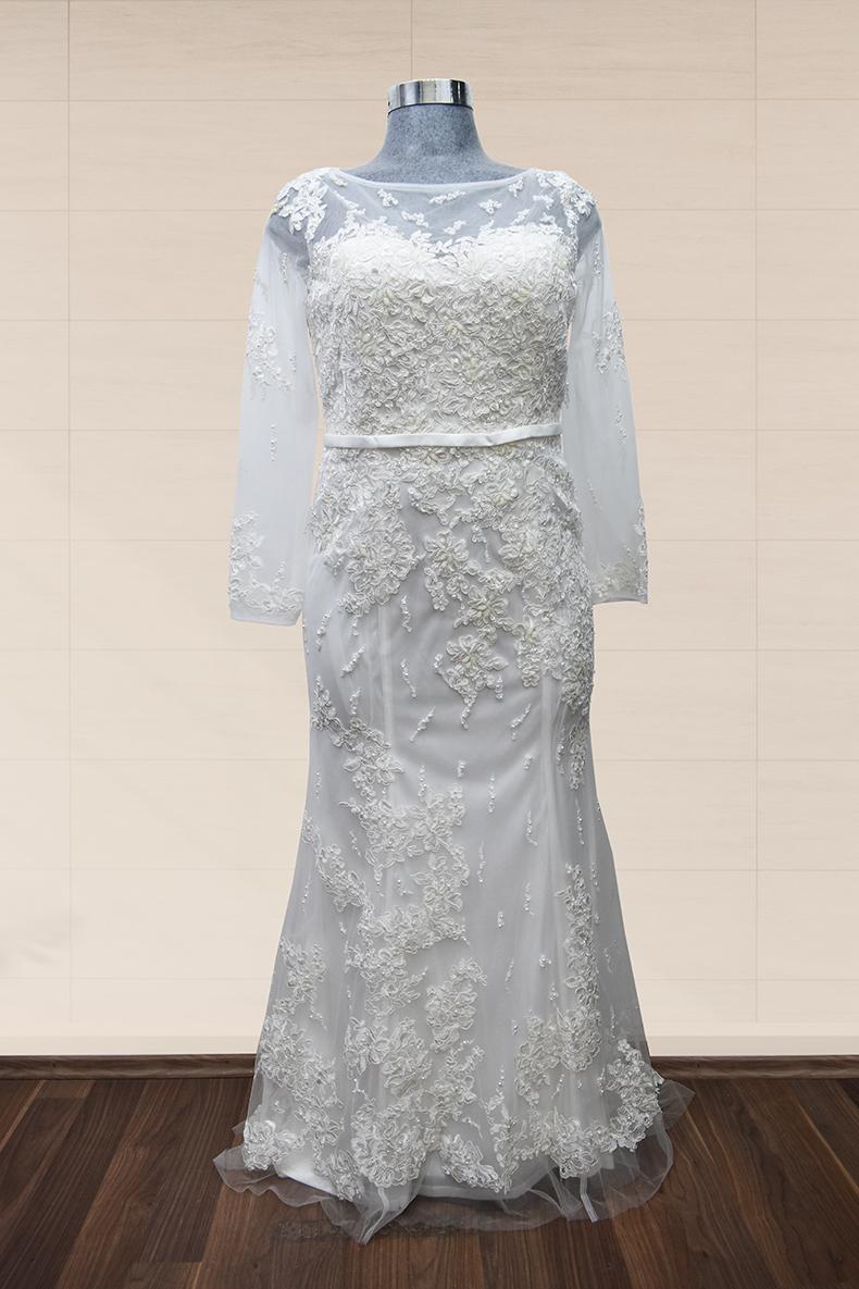 Vestido de novia largo talla 2XL